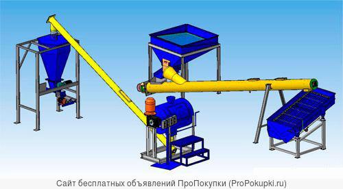 Минизавод фермера производства сыпучего удобрения из сапропеля