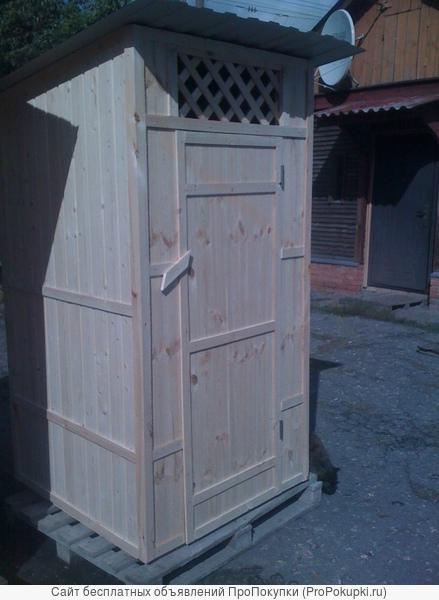 Дачный туалет 1х1х2м из дерева. Доставка по области