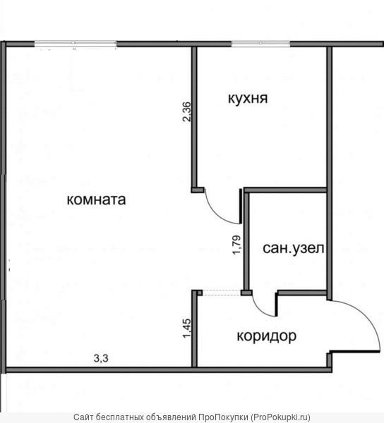 1-к квартира на Киевской продается, собственник