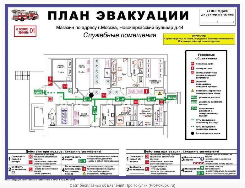Изготовление планов эвакуации, знаки безопасности, фотолюм.