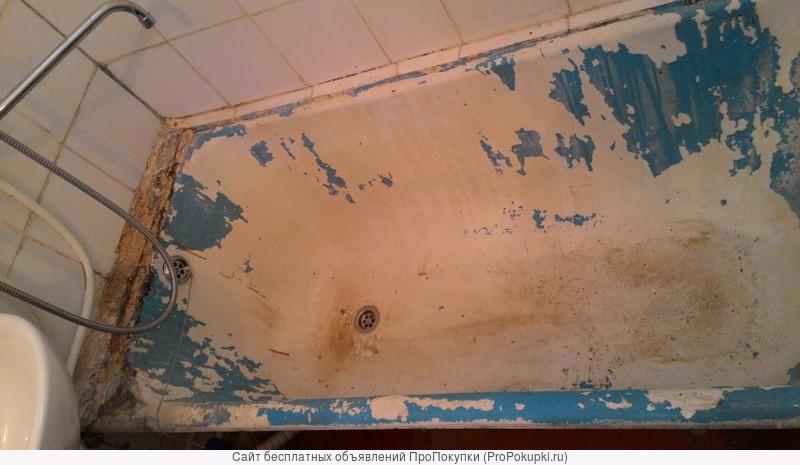 Восстановление эмалевого покрытия ванн наливным акрилом. Эмалировка ванн. Реставрация ванн