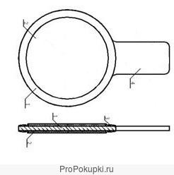 Заглушка поворотная,с рукояткой Т-ММ-25-01-06,АТК 26-18-5-93