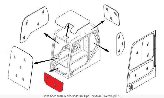 Стекло лобовое нижнее (триплекс) Hyundai 71N6-02710/71N6-02711