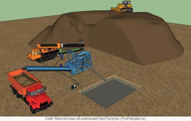 Скважинная шнеково-гидравлическая добыча полезных ископаемых