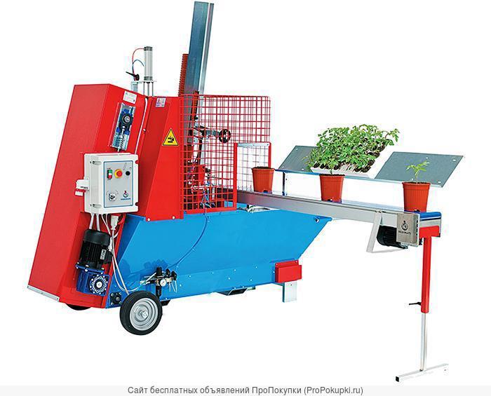 Машины для насыпания грунта в горшки и высадки растений