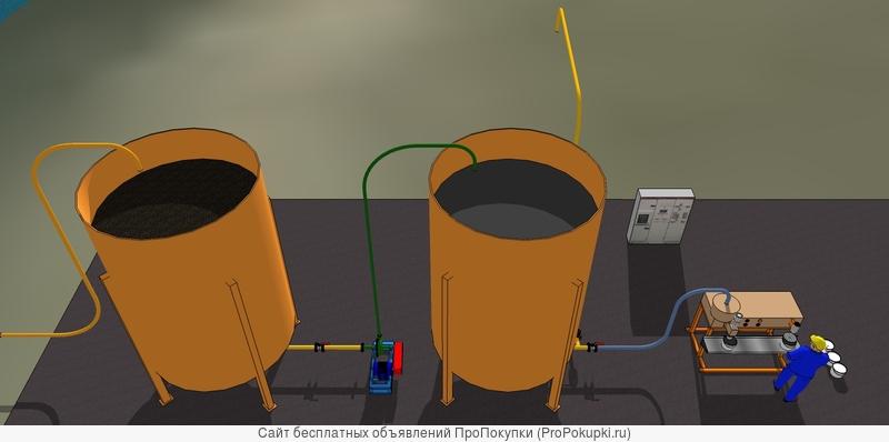 Минизавод фермера производства пастообразного удобрения из сапропеля