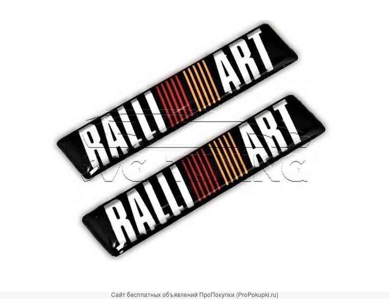 Шильдики Ralli Art на Mitsubishi