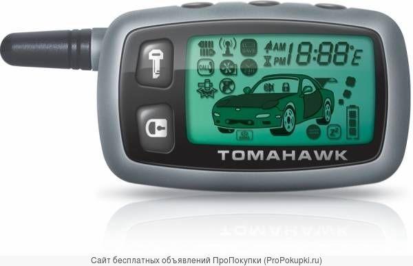 Брелок — пейждер Tomahawk 9010 (пульт ДУ) старого образца с узкой антенной