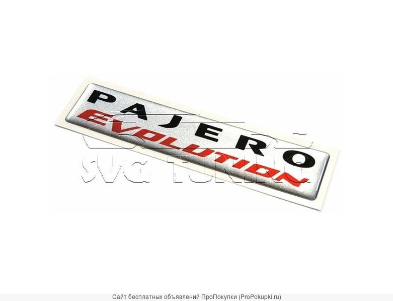 Шильдики Pajero Evolution для Mitsubishi