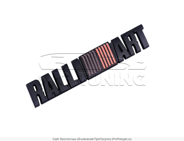 Чёрный шильдик Ralli ART на багажник