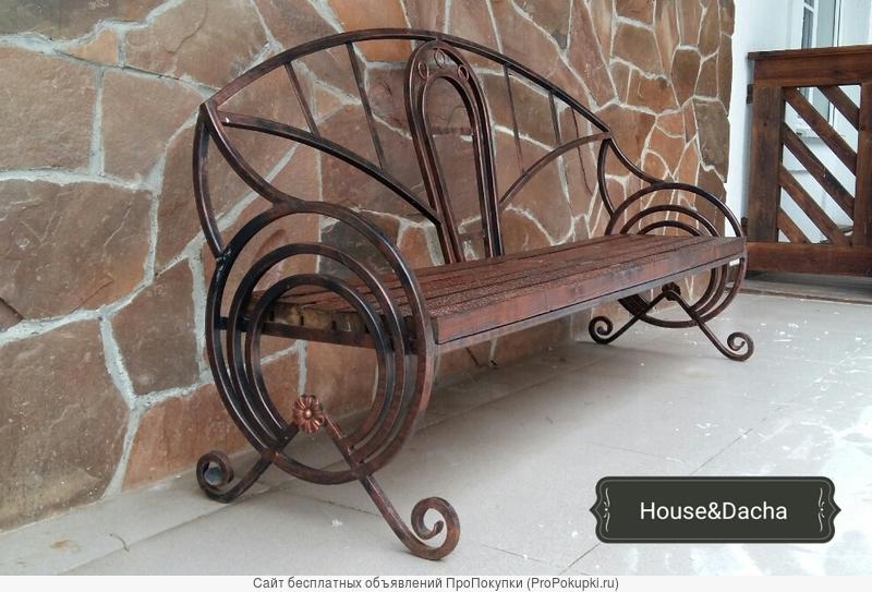 Скамейка з металла