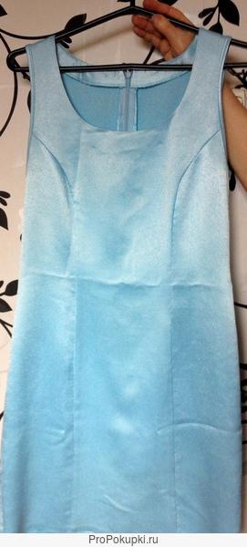 костюм голубой размер 42: платье и костюм