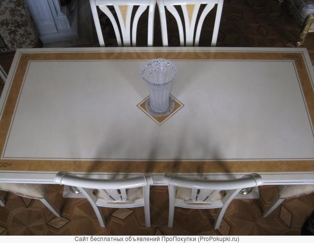 Обеденная группа фабрики Turri Kristal стол 210х100см.и 8 стульев