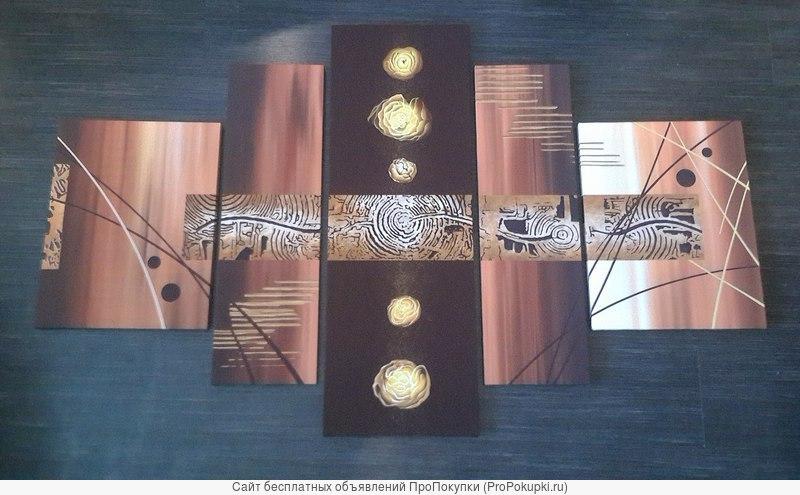 Сегментированная модульная картина из 5 частей