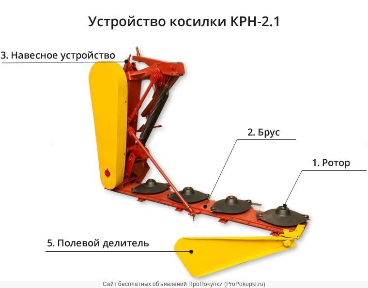 Косилка ротационная навесная КРН 2.1