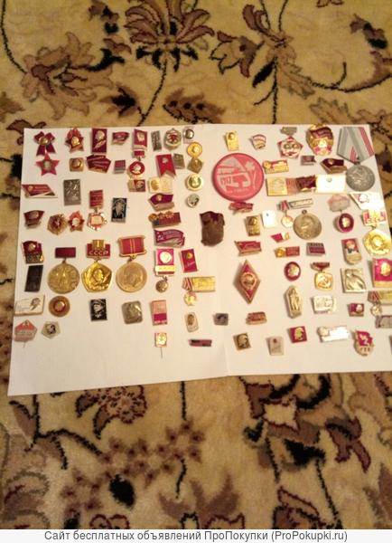 Продам редкую коллекцию значков с изображением в.и.ленина
