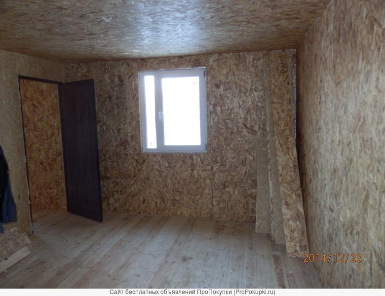 Строительство каркасного дома 6,0х6,0м 2 этажного