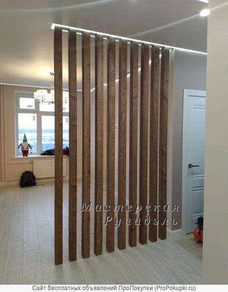Деревянные реечные перегородки Vertical Wood