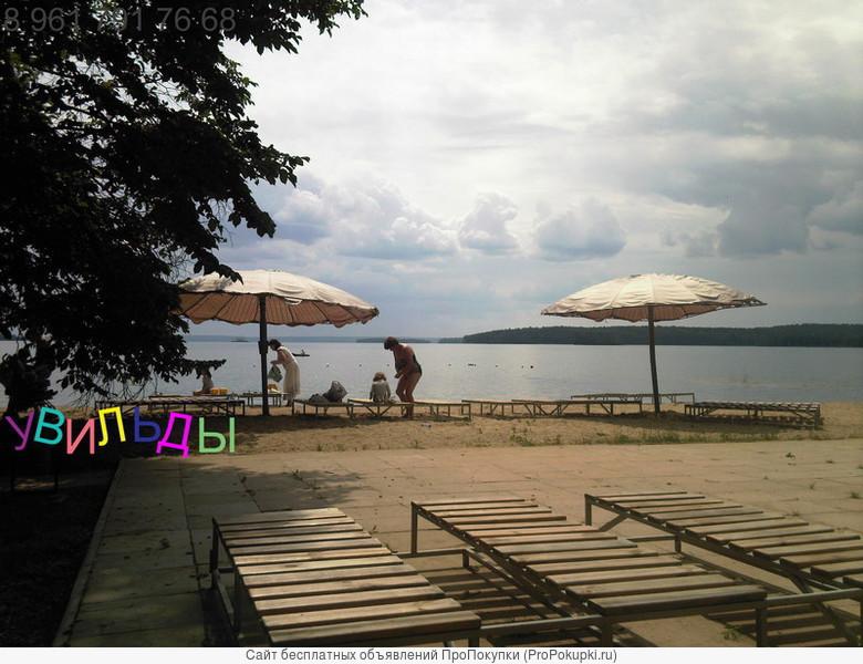 сдам квартиру на самом берегу озера Увильды у воды