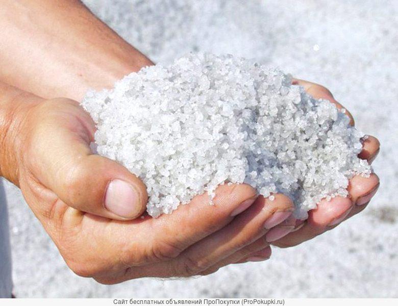 Соль техническая-реагент для обработки дорог