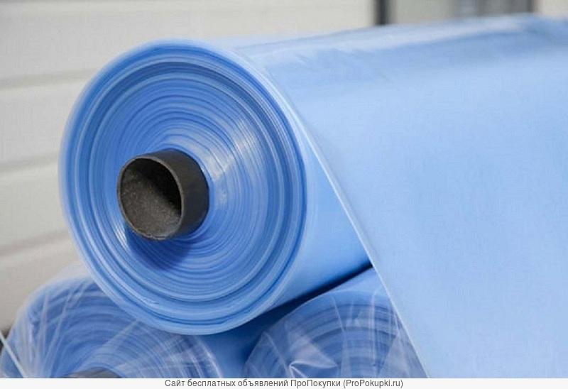 Плёнка полиэтиленовая укрывная синяя 80мкм., 3м*100м