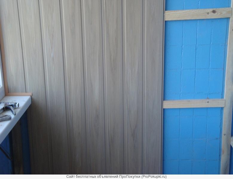 Отделка стен пластиковыми панелями ПВХ
