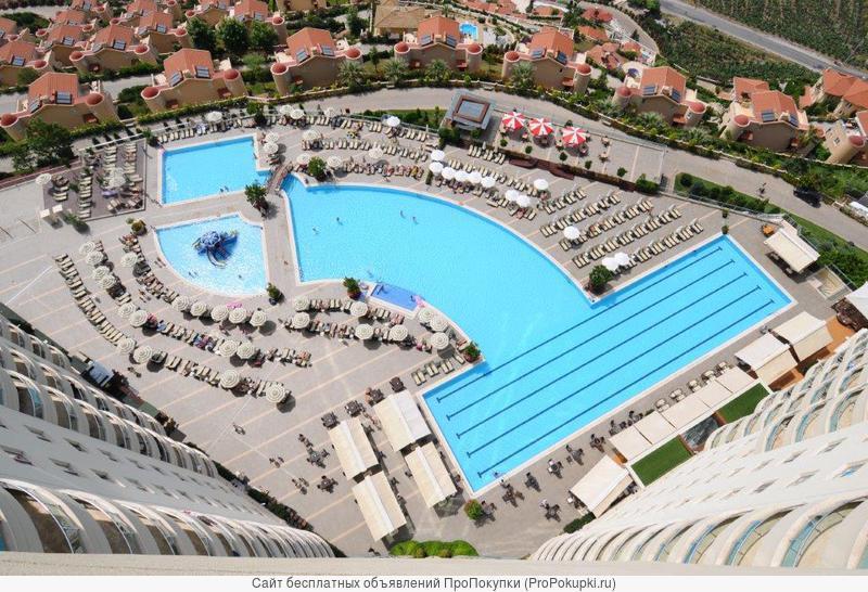Прекрасная вилла 65 м2 в шикарном комплексе Голд Сити, Турция