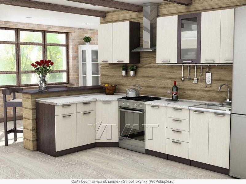 Кухня Ривьера-02 Венге Дуб млечный 2050*600*2140