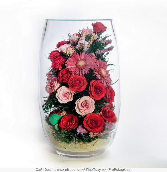 Композиции из живых цветов для интерьера Фиора на 7 лет оптом