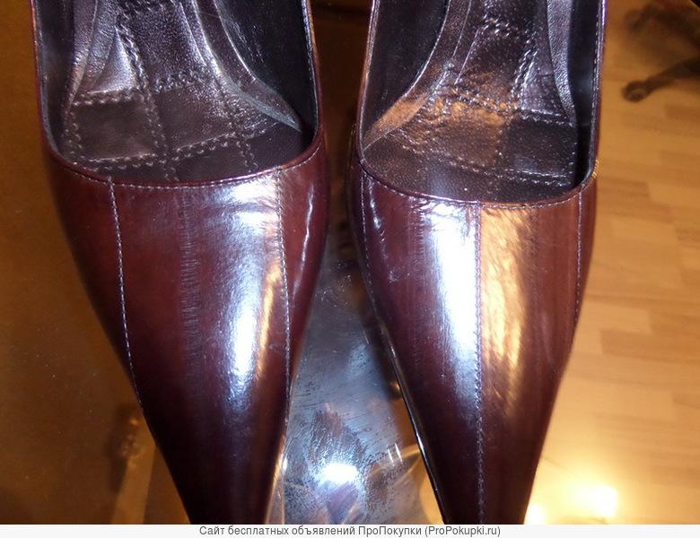 Брендовые стильные туфли их нат.змеиной кожи
