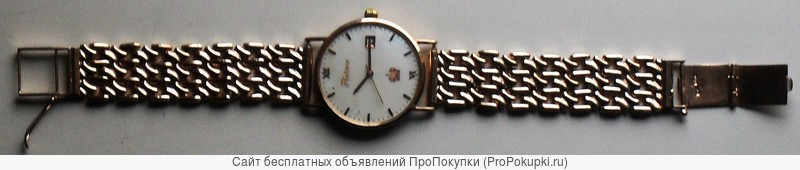 Золотые часы с браслетам