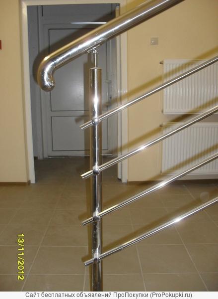 ограждения из нержавейки, поручни, перила, лестницы