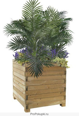 Услуги по изготовлению цветочных кашпо из массива натурального дерева