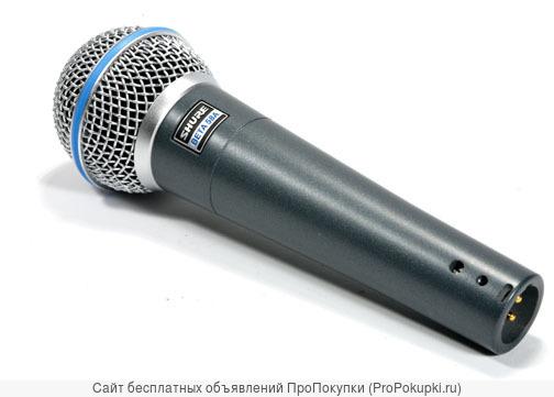 Микрофон shure beta58a вокальный новый. Магазин.