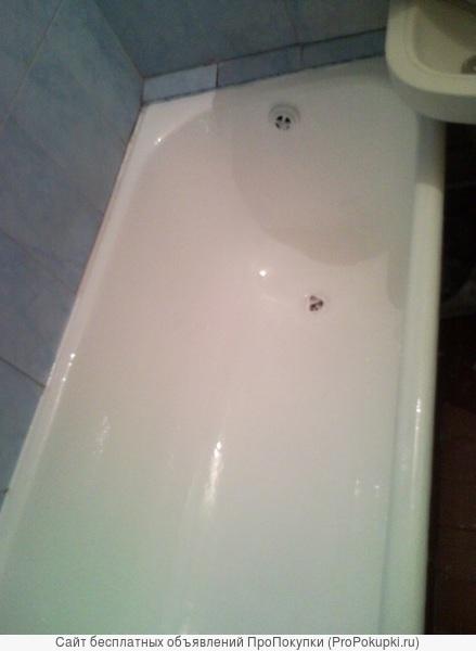 Восстановление эмалевого покрытия ванн наливным акрилом. Эмалировка ванн. Реставрация ванн.