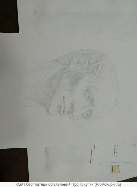 Подготовка к поступлению в МАрхИ, занятия по академическому рисунку
