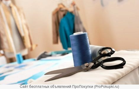ремонт одежды, тканевых чехлов, обновление штор