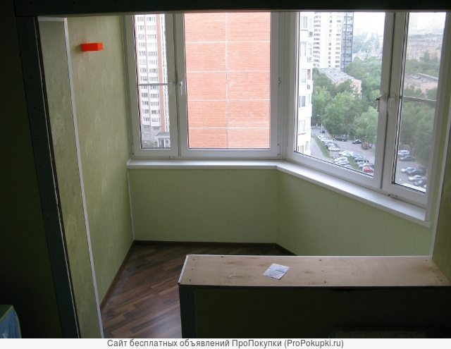 Балконы: расширение, внутренняя отделка.