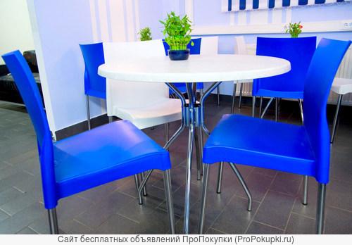 Мебель для ресторанов и кафе на металлокаркасе.