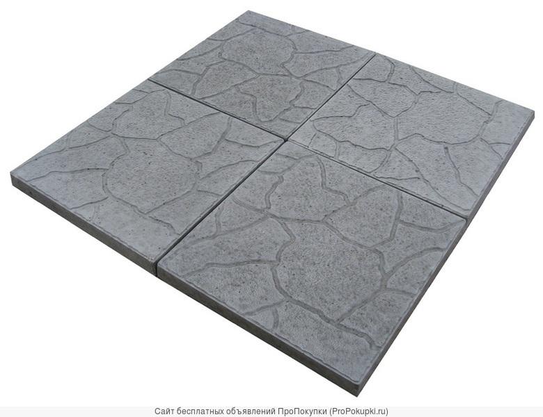 Тротуарная плитка бетонная 300.300.30