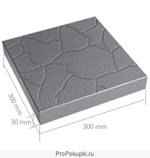 Тротуарная плитка бетонная 300.300