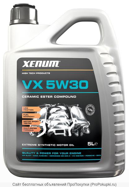 Моторное масла на эстеровой основе с микрокерамикой Xenum VX 5W30 5L