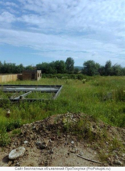 Участок в п. Дзержинск, Иркутский район -свет, вода, фундамент, баня